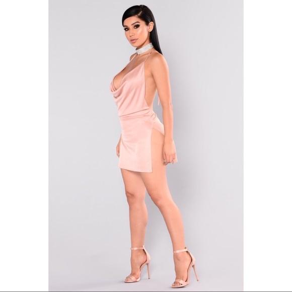Fashion Nova Dresses & Skirts - Fashion Nova Backless Sexy Mini Dress - Blush